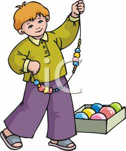 A_Young_Stringing_Christmas_Decorations_Royalty_Free_Clipart_Picture_101108.