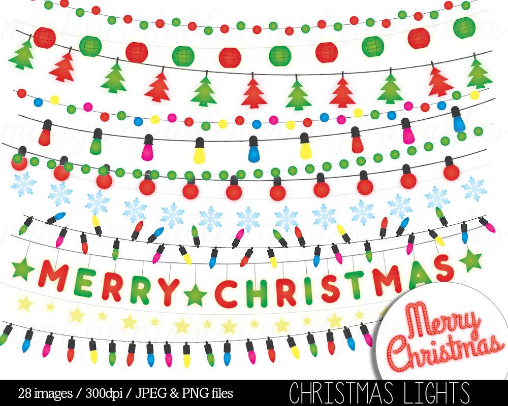 Clipart stringing christmas lights outside.