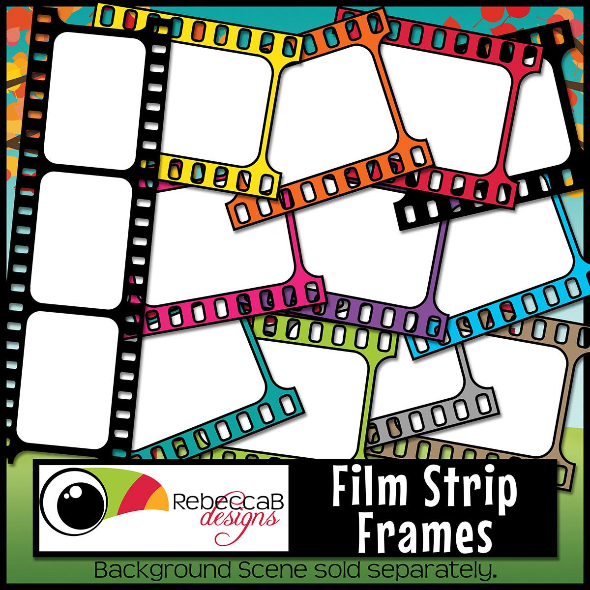 Film Strip Frames Clip Art.