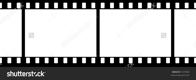Film Strip 2 Frames No Numbers Stock Illustration 1673465.