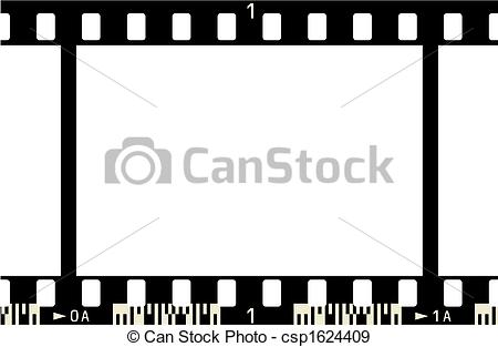 EPS Vectors of Film Strip (1 Frame, with numbers, with code.