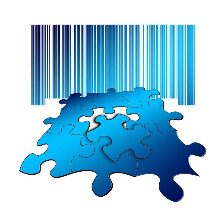 Free illustration: Puzzle, Share, Bar Code, Strip Code.