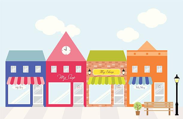 Strip Mall Clip Art, Vector Images & Illustrations.