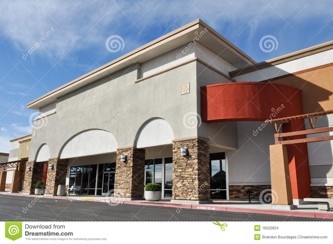 Retail Strip Center Royalty Free Stock Images.