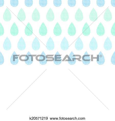 Clip Art of Abstract textile blue rain drops stripes horizontal.