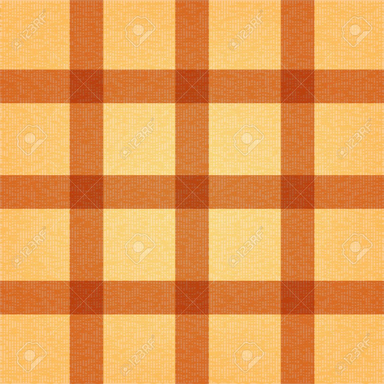 Retro Textile Background With Light Brown Stripes. Textile Texture.