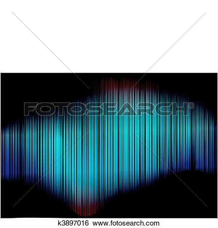 Clip Art of Abstract Blue Vertical Striped Back k3897016.