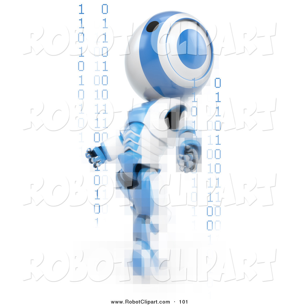 3d Clipart of a Striped Blue and White AO.