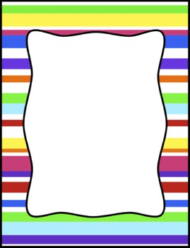 Colorful Stripes Frames, Borders, Background Clip Art.