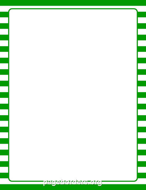 Green and White Striped Border: Clip Art, Page Border, and.