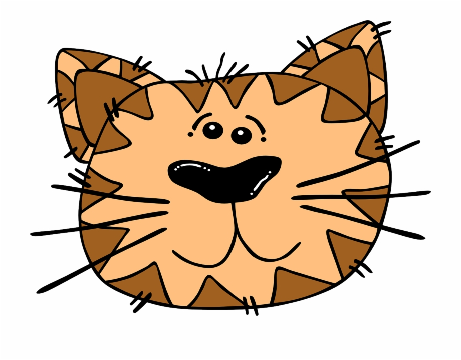 Cat Face Cartoon Striped Tiger Png Image Cat.