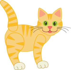 Yellow Striped Cat Clip Art at Clker.com.