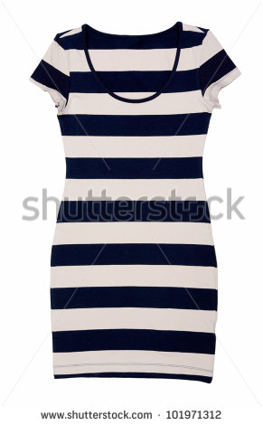 Striped Dress Stock Images, Royalty.