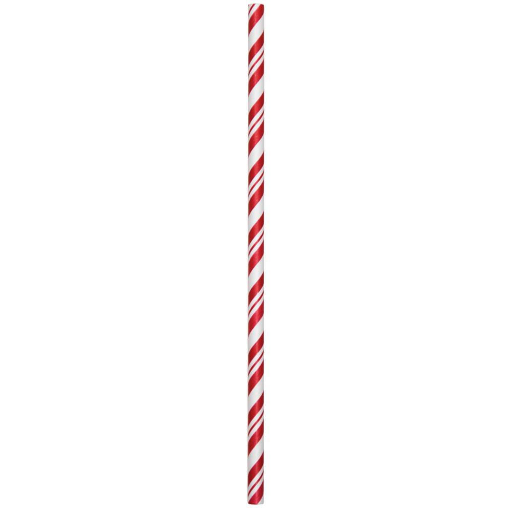 Classic Red / White Stripe Paper Straws.