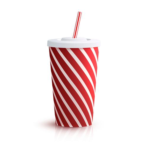 Cola Striped Glass.