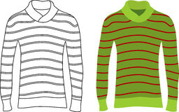 Striped sweater clipart.