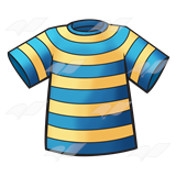 Yellow and blue striped clipart.
