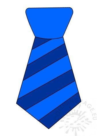 Blue Striped Necktie clipart.