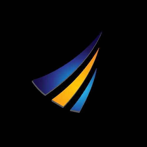 Financial Three Stripes Logo.