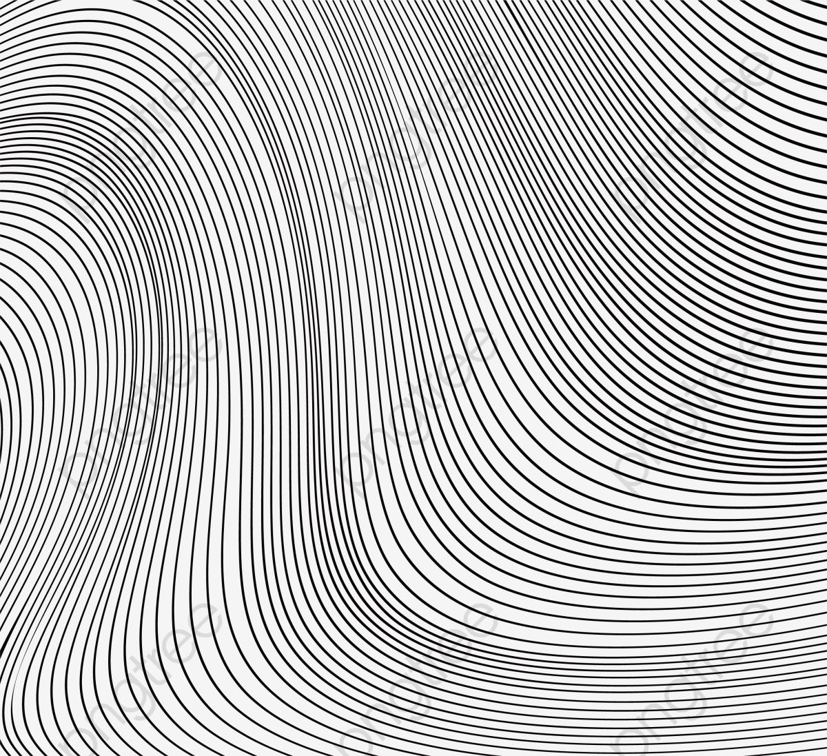 Transparent Black Big Wave Stripes PNG F #493348.