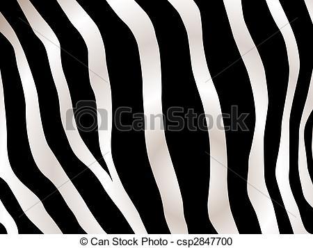 Vector Clipart of stripped zebra design.
