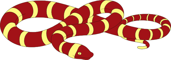 Red And Yellow Striped Snake Clip Art at Clker.com.