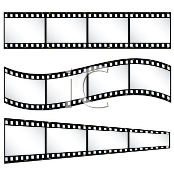 Film strips or strips of film.