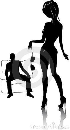 Couple Sex Icon Stock Photo.