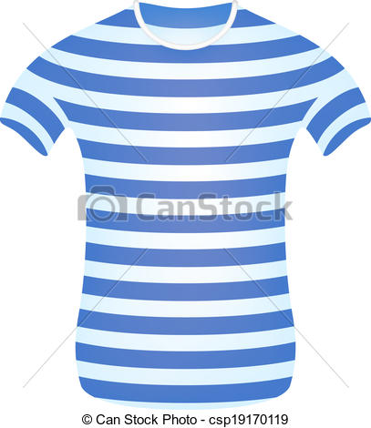 Vector Clip Art of Striped sailor t.
