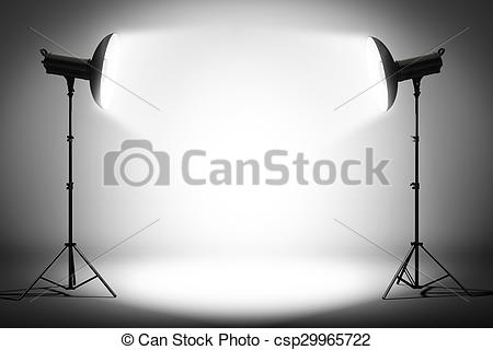 Clip Art of Professional strobe lights.