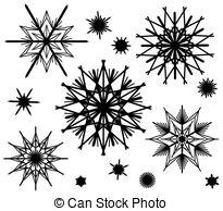 Strohsterne Vector Clip Art Illustrations. 4 Strohsterne clipart.