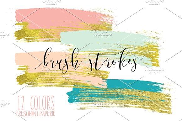 paint brush strokes clipart ~ Graphics on Creative Market.