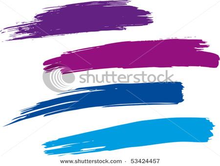 Paint Brush Stroke Clip Art.