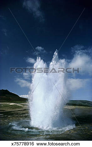 Stock Images of Strokkur Geyser, southern Iceland x75778916.