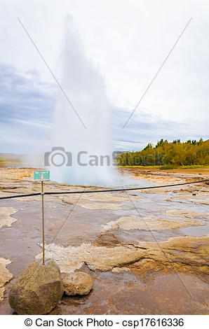 Stock Photos of Strokkur geysir in Iceland csp17616336.