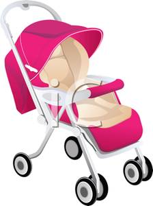 Pink Stroller.