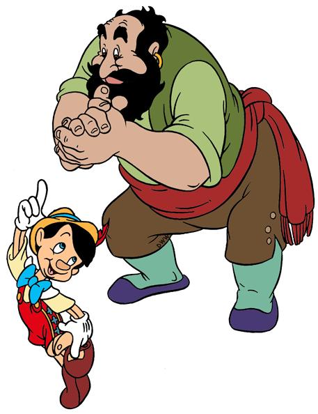 Pinocchio Villains Clip Art Images.