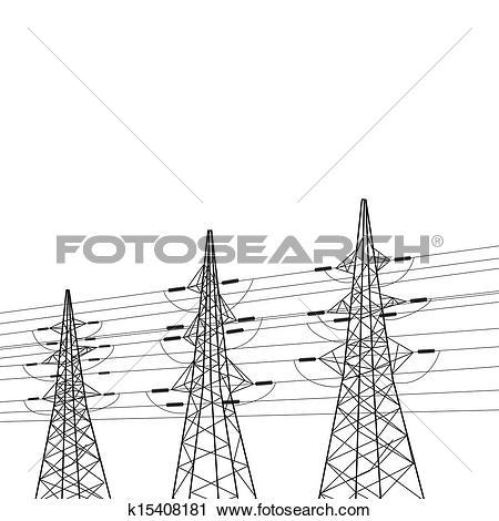 Stock Photo of Electricity pylon k15552483.