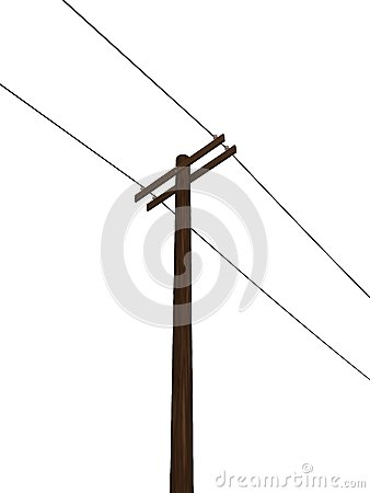 White Power Pole Tower Stock Illustrations.