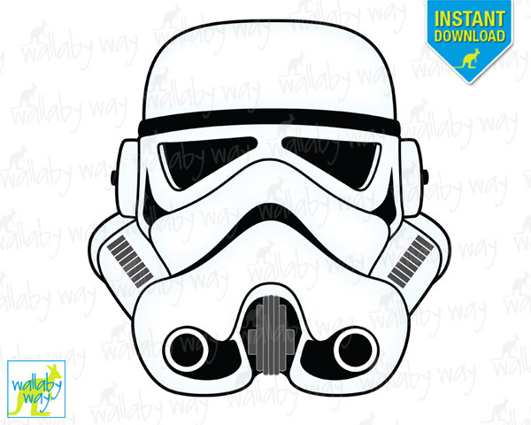 STORMTROOPER Star Wars Printable Iron On Transfer or Use as.