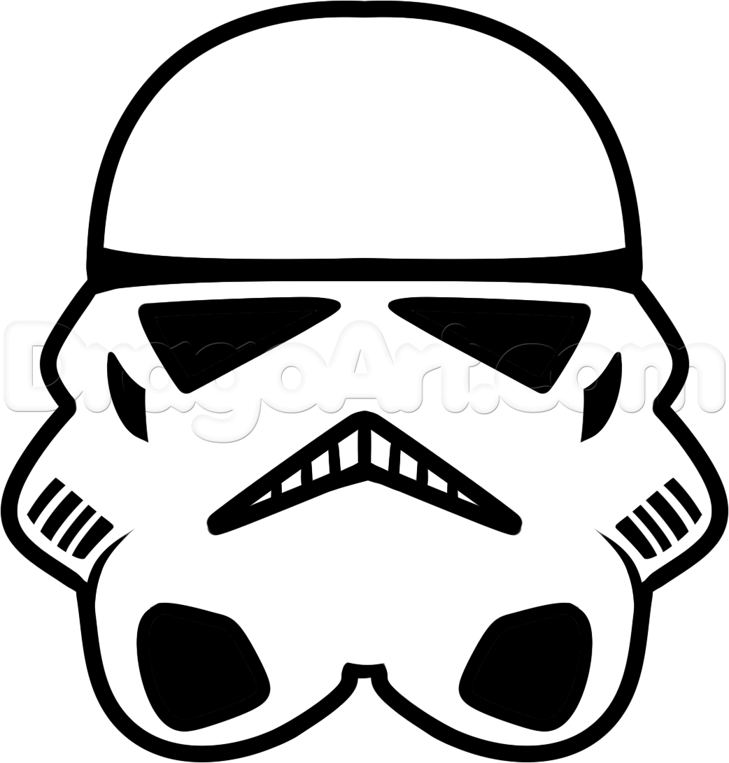 How to Draw a Stormtrooper Easy, Step by Step, Star Wars.