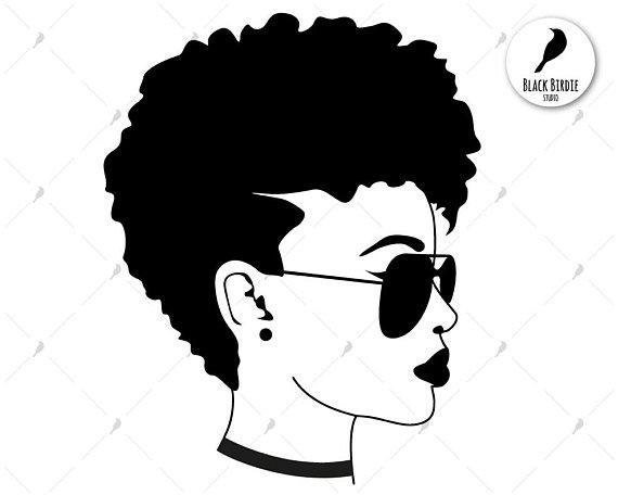 Black woman svg, black woman clipart, sunglasses svg, shades.