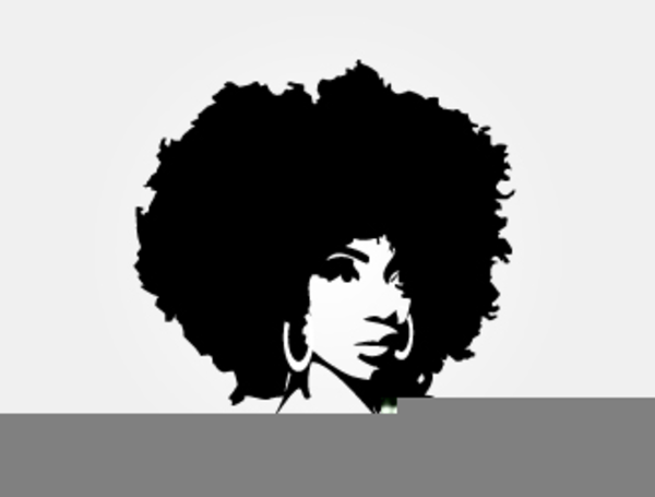 Black Woman With Afro Clipart.