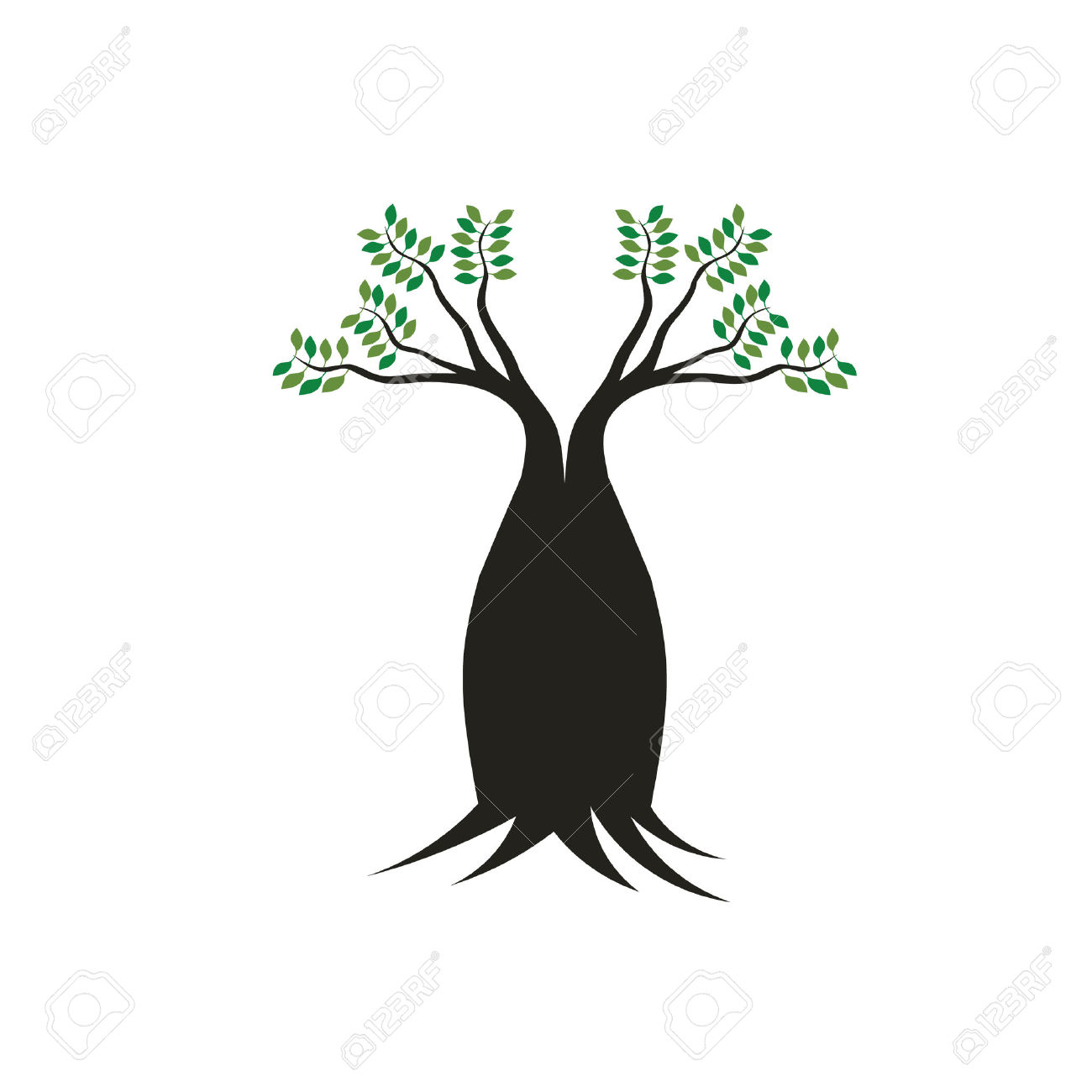 Boab Tree Image Concept Of Mother Tree, Robust,stable, Strong.