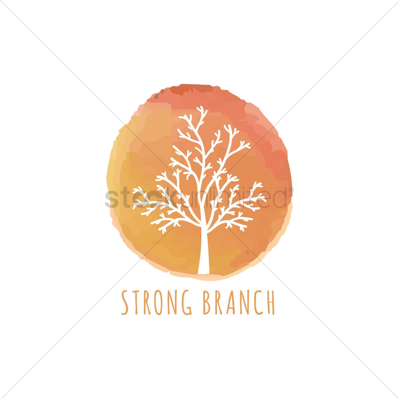 Strong branch Vector Image.