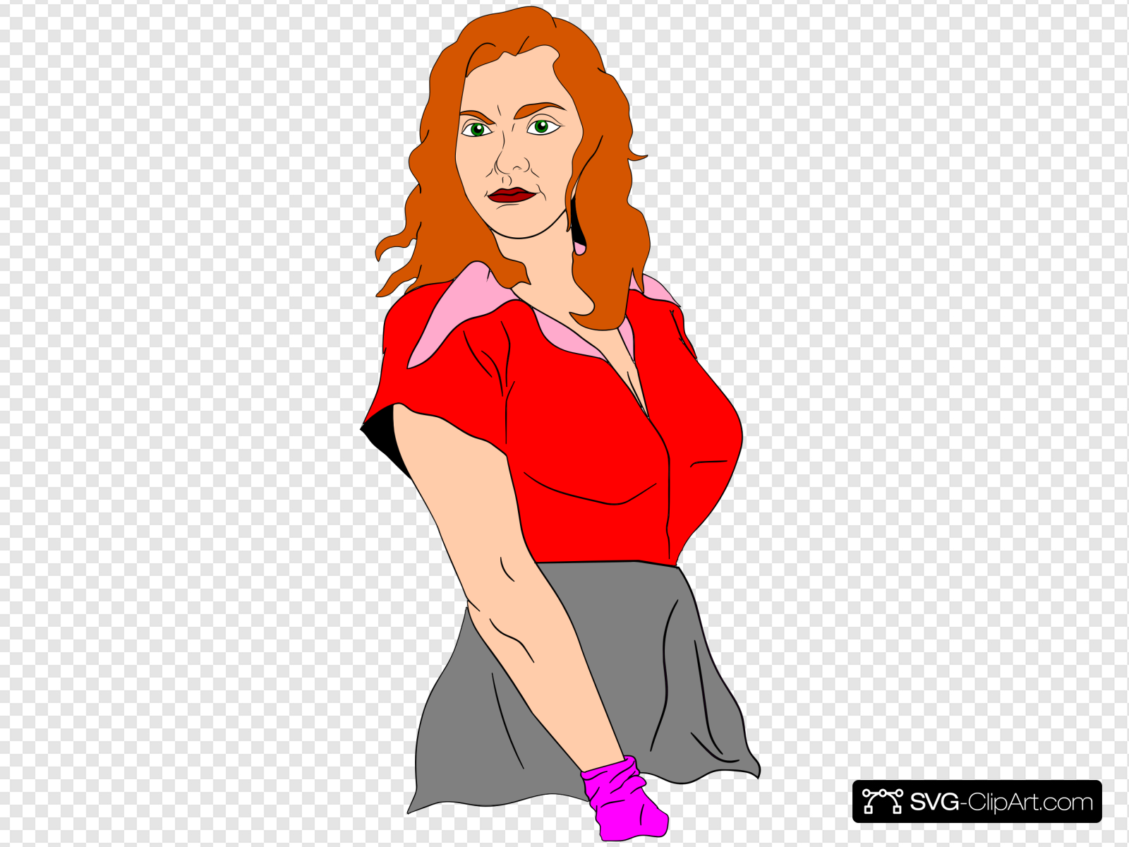 Strong Lady Clip art, Icon and SVG.
