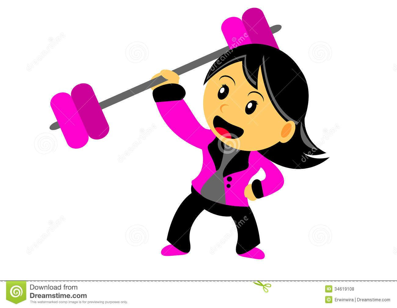strong+woman+clipart.