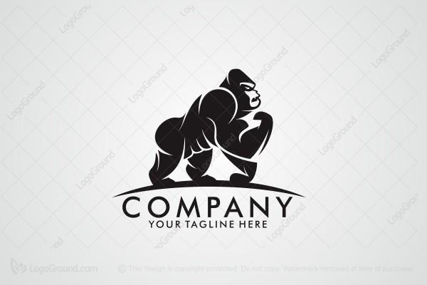 Exclusive Logo 177244, Strong Gorilla Logo.