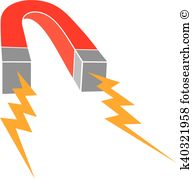 Strong magnetic field Clipart Illustrations. 11 strong magnetic.