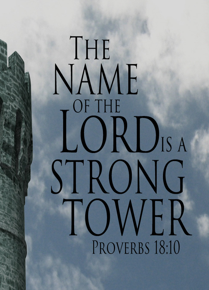 The NAME of the LORD is a strong tower; The righteous runs.